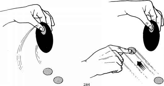 Cartoon Hand Picking Coin