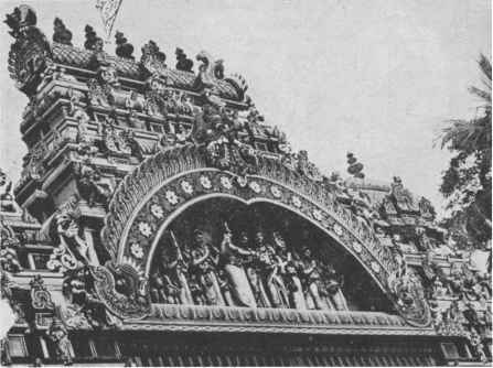 Madurai Temple Pencil Drawing